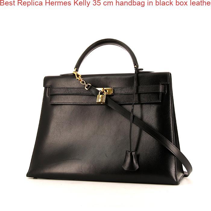c1ef914490 Best Replica Hermes Kelly 35 cm handbag in black box leather – High ...