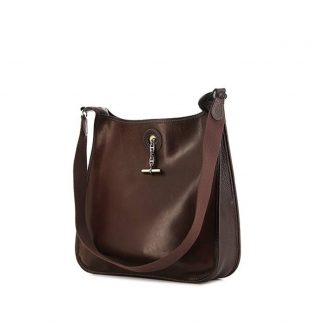 e74e0159a737 ... High Quality Replica Hermes Vespa shoulder bag in brown buffalo leather  ...