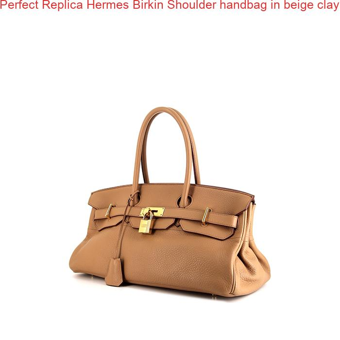 1fc698d01761 Perfect Replica Hermes Birkin Shoulder handbag in beige clay togo leather