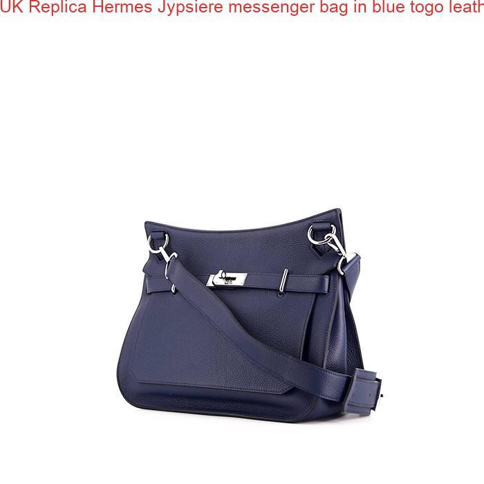cbf7244572ea UK Replica Hermes Jypsiere messenger bag in blue togo leather – High ...