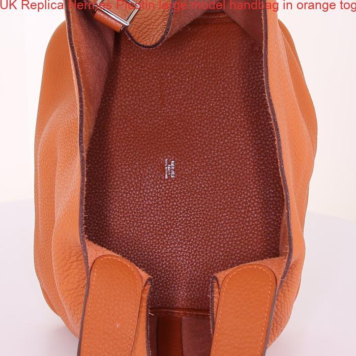 Uk replica hermes picotin large model handbag in orange for Replica mobel england